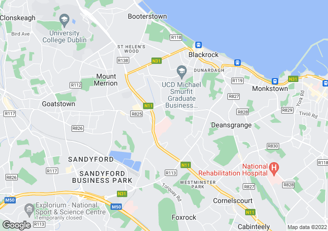 Map for Ulster Terrace, Stillorgan Grove, Blackrock, Co. Dublin