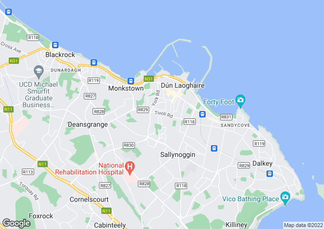 Map for 7 Eglinton Park, Dun Laoghaire, Co Dublin