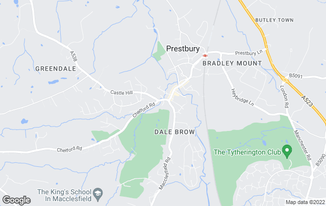 Map for Bridgfords, Prestbury