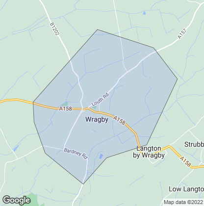 Map of property in Wragby