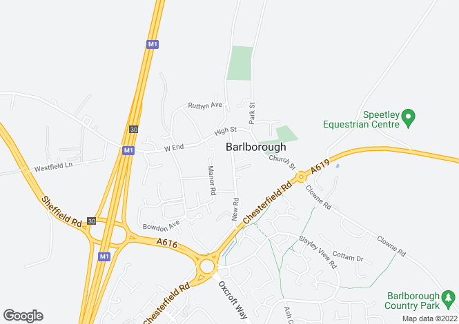 Map for New Road, Barlborough, Chesterfield S43