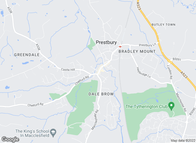 Map for Gascoigne Halman, Prestbury