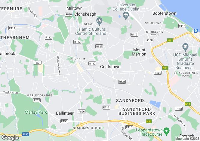 Map for Dublin, Dundrum
