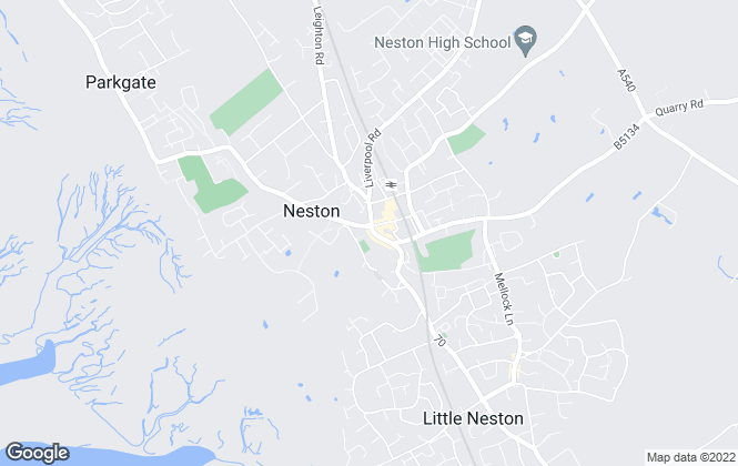 Map for Reeds Rains , Neston