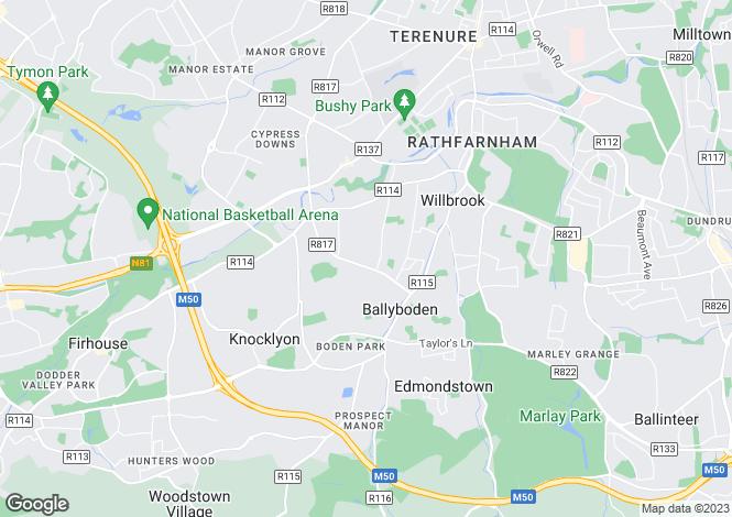 Map for 15 Orchardstown Villas, Rathfarnham,   Dublin 14