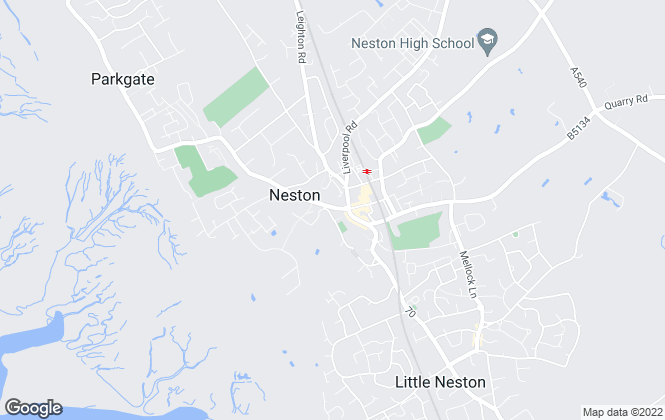Map for Hunters, Neston