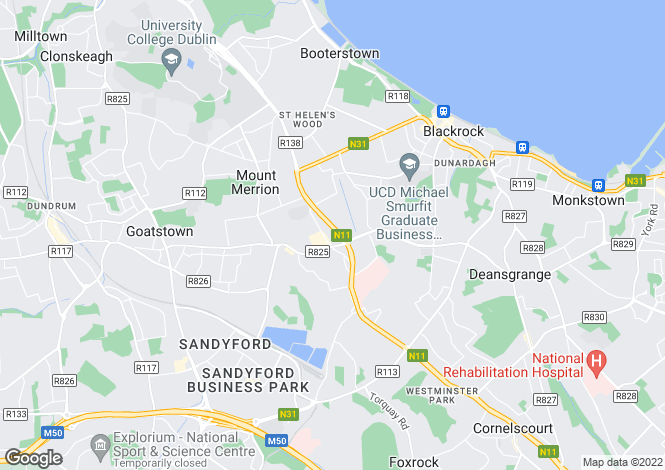 Map for 48 St Laurence's Park, Stillorgan, Co. Dublin, A94 A2N1
