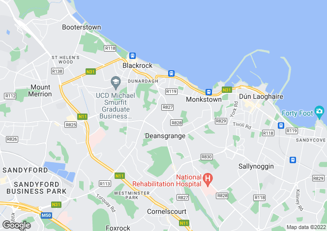 Map for 49 Rockville Crescent, Blackrock, Co Dublin