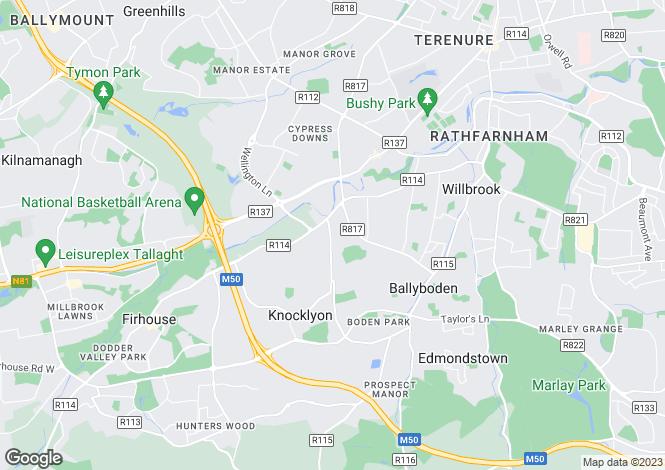 Map for 1 Coolamber Court, Knocklyon, Dublin 16