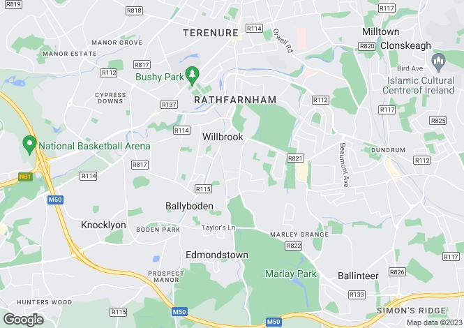 Map for Dublin, Rathfarnham