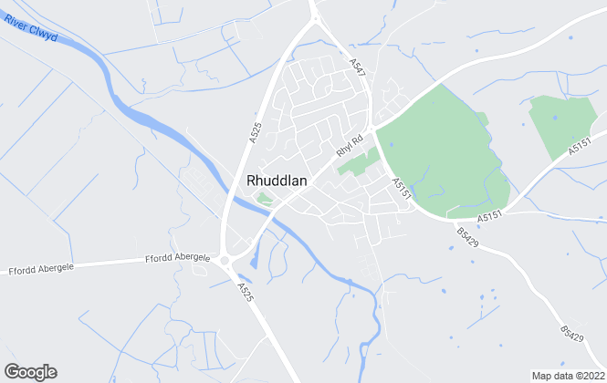 Map for REB Letting, Rhuddlan