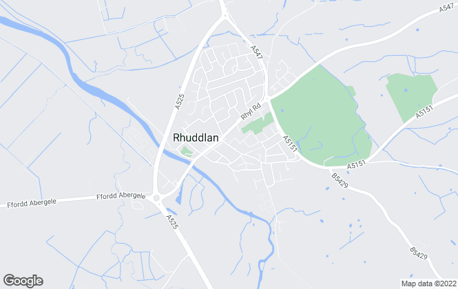 Map for Williams Estates, Rhuddlan