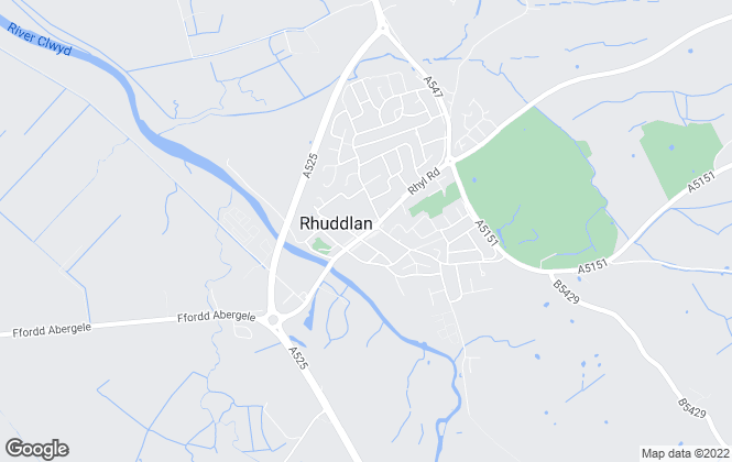 Map for LL Estates, Rhuddlan