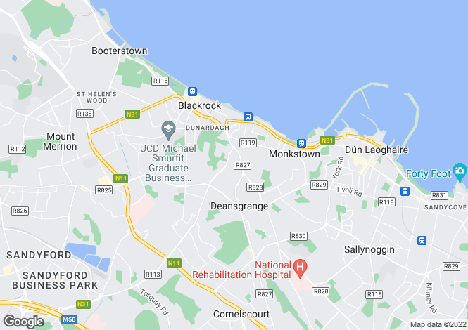 Map for 23 Stradbrook Lawn, Blackrock, Co.  Dublin