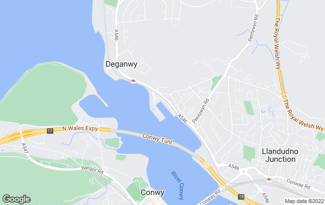 Map for Coast & Marina Properties, Deganwy