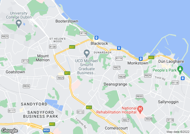 Map for Proby Square, Blackrock, Co. Dublin