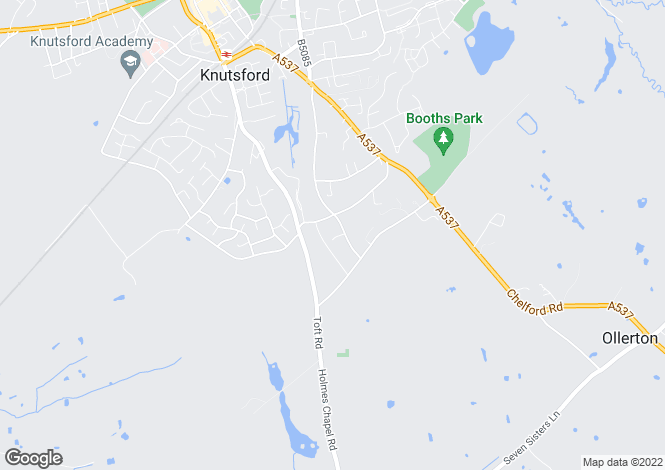 Map for Lovat Drive, Knutsford