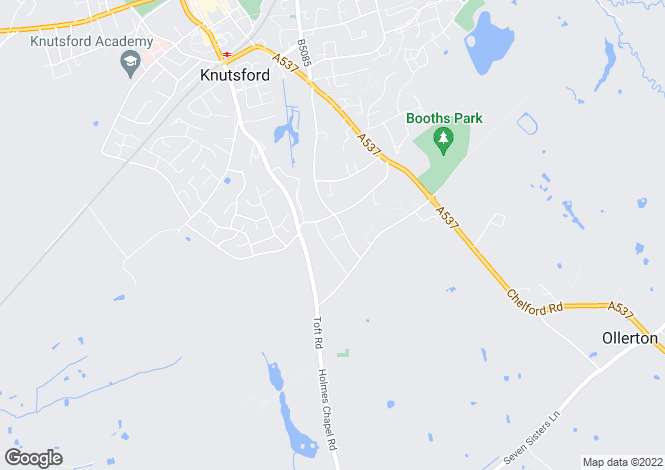 Map for Lovat Drive, KNUTSFORD, Cheshire