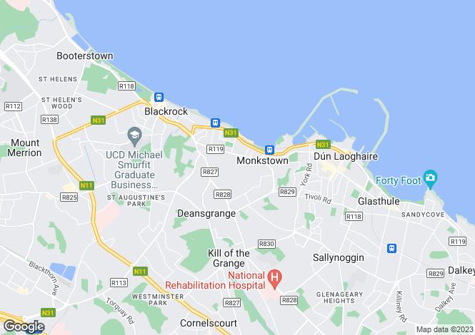Map for 6 Southdene, Monkstown Valley, Monkstown, Co. Dublin