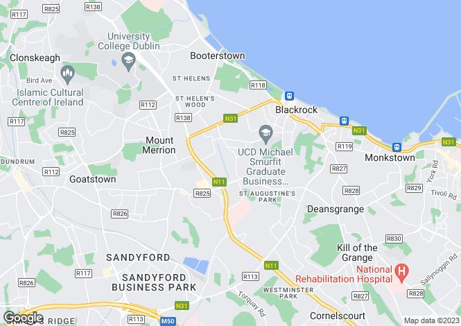 Map for 3 The Mullins Wing, Linden, Blackrock, Co Dublin
