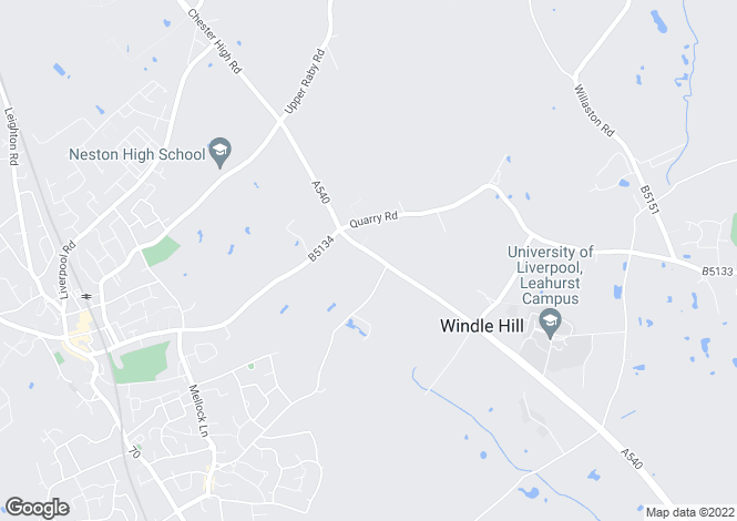 Map for The Towers, Chester High Road, Hinderton, Cheshire