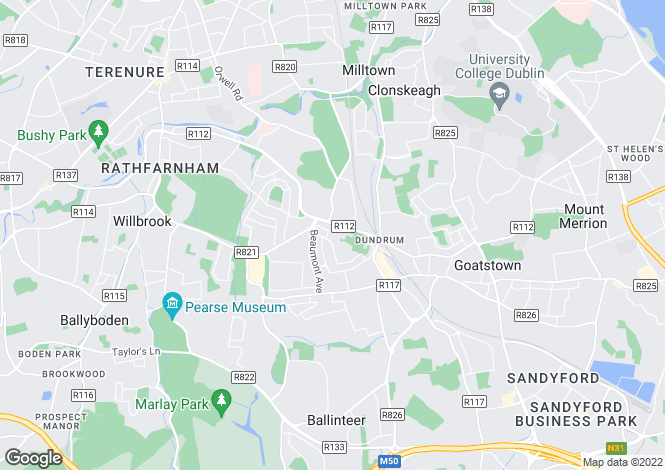 Map for 7 Finsbury Green, Churchtown, Dublin 14, D14 XY74