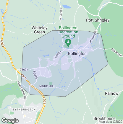 Map of property in Bollington