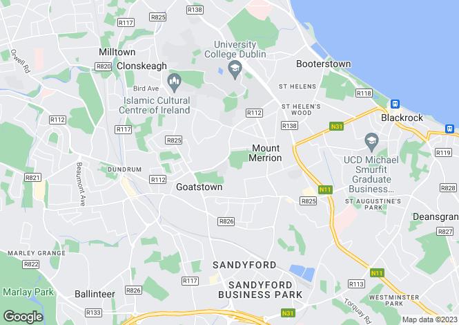 Map for 6 Mount Anville Park, Goatstown,   Dublin 14
