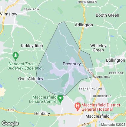Map of property in Prestbury