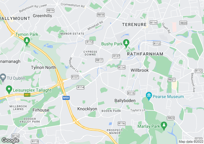 Map for Riversdale, Butterfield Avenue, Rathfarnham, Dublin 14