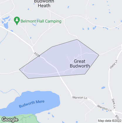 Map of property in Great Budworth