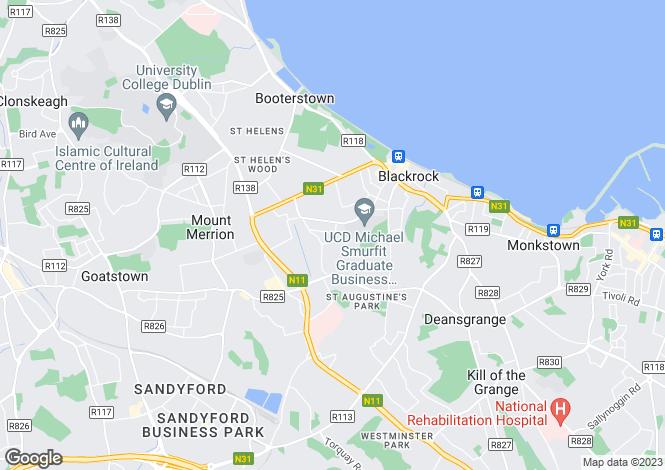 Map for 3 Glenart Avenue, Blackrock, Co Dublin