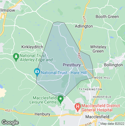 Map of property in Prestbury