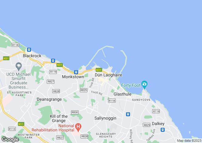 Map for 11 Crofton Avenue, Dun Laoghaire, Co Dublin, A96 PX53