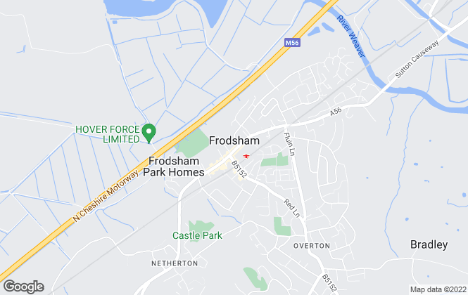 Map for Cheshire Relocation, Frodsham