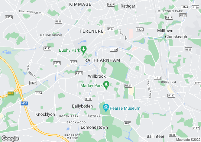 Map for 1 St. Mary's Terrace, Rathfarnham Village,, Rathfarnham, Dublin 14