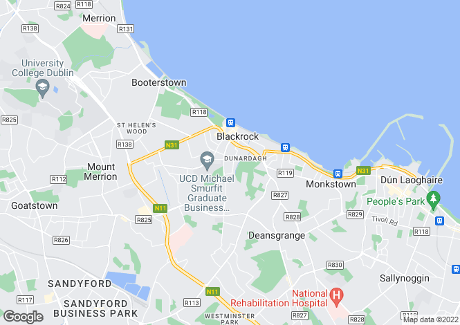 Map for Blackrock, Dublin