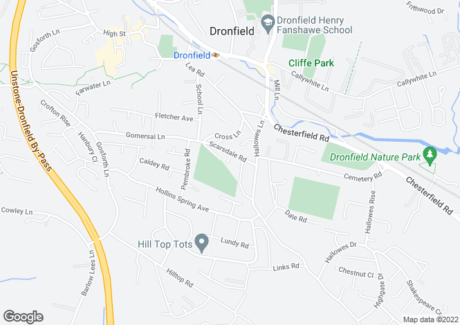 Map for Scarsdale Close, DRONFIELD, S18