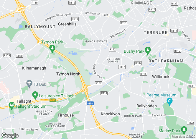 Map for 110 Orwell Park View, Templeogue,   Dublin 6W