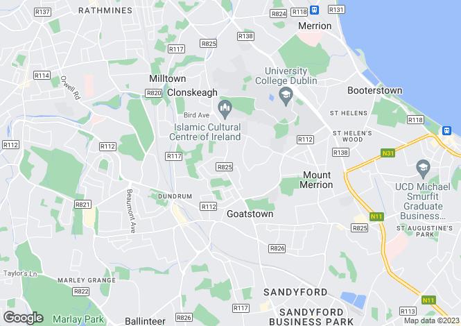 Map for 170 Trimbleston, Goatstown Road, Goatstown, Dublin 14
