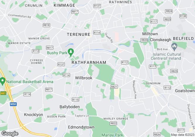 Map for 20 The Castlelands, Rathfarnham Castle, Rathfarnham, Dublin 14