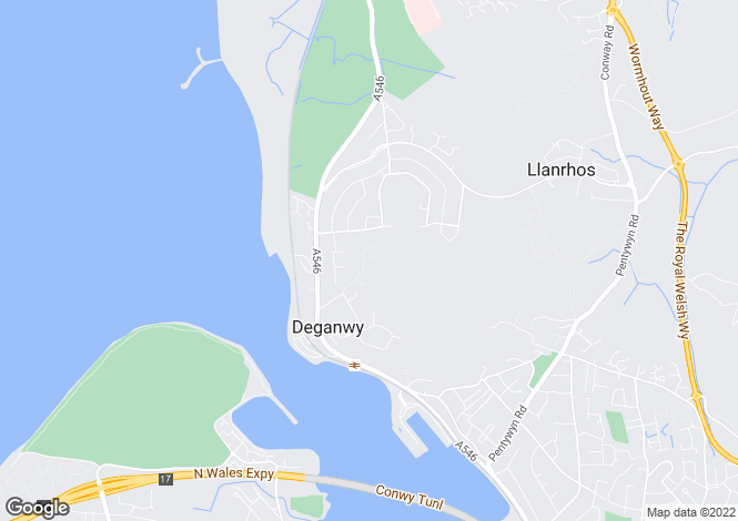 Map for Gannock Park West, Deganwy