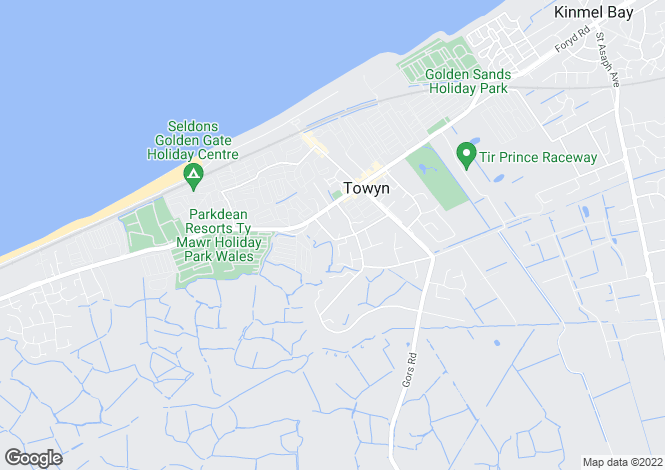 Map for Penisaf Avenue Towyn