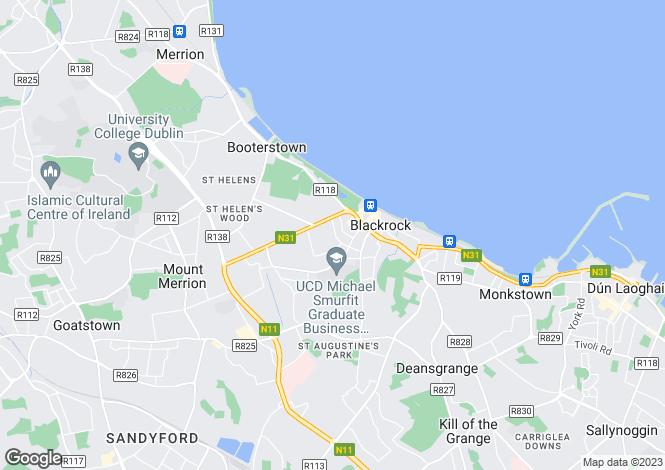 Map for Annamore, 30 Sydney Avenue, Blackrock, Co. Dublin, A94 E4F3