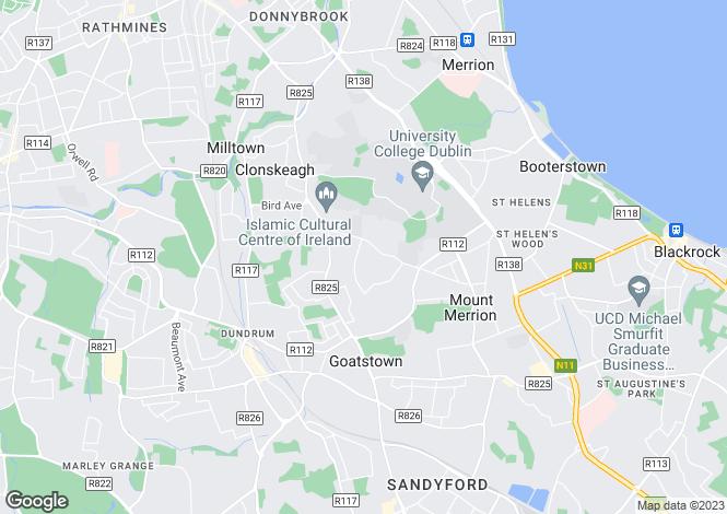 Map for Apartment 22, Stanford, Harlech Grove, Ardilea, Clonskeagh, Dublin 14