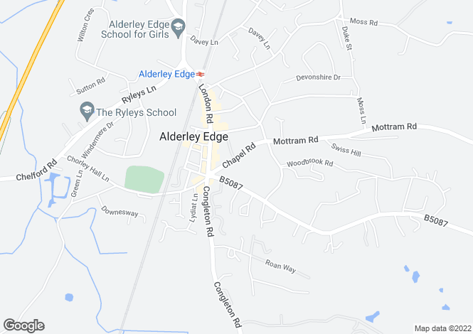 Map for Chapel Road, Alderley Edge, Cheshire