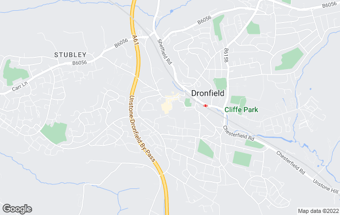 Map for Blundells, Dronfield