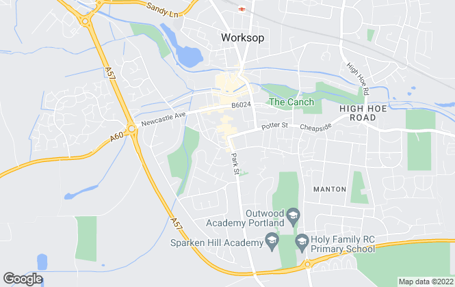 Map for Fieldings Property Management, Worksop