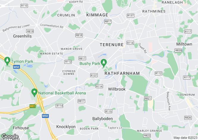 Map for 183 Bushy Park House, Terenure,   Dublin 6W