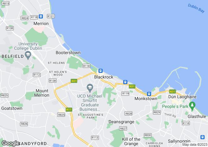 Map for Idrone Terrace, Blackrock, Co. Dublin